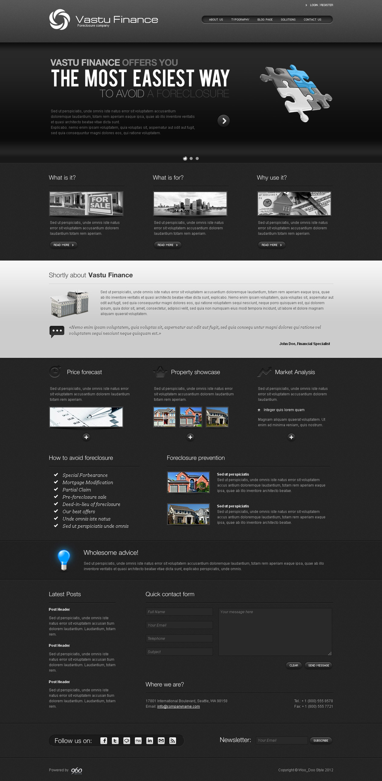 Vastu Finance - HTML Template - Dark